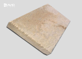 Yellow Natural Limestone Tiles Mild Texture Strong Water Absorption