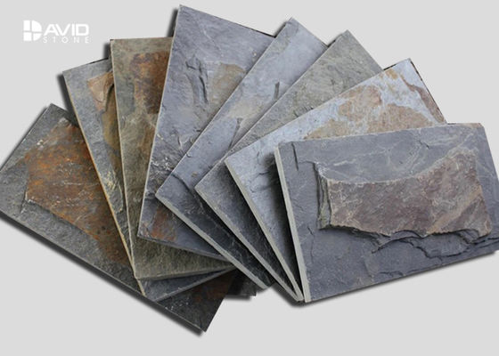 Mushroom Shaped Slate Paving Stones , Slate Floor Tiles Custom Size