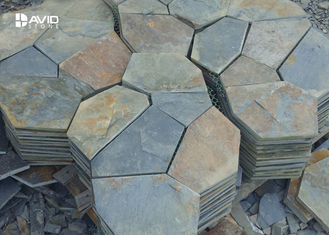 10/20mm Thickness Irregular Slate Paving Stones For Flooring Tiles Slip Resistant