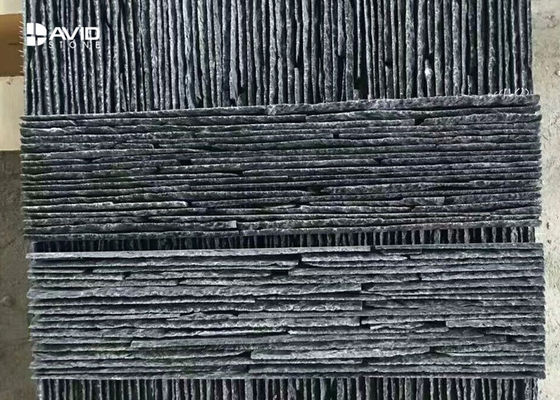 Black Color Nature Slate Cultured Stone Wall Panels For Park / Garden / Yard