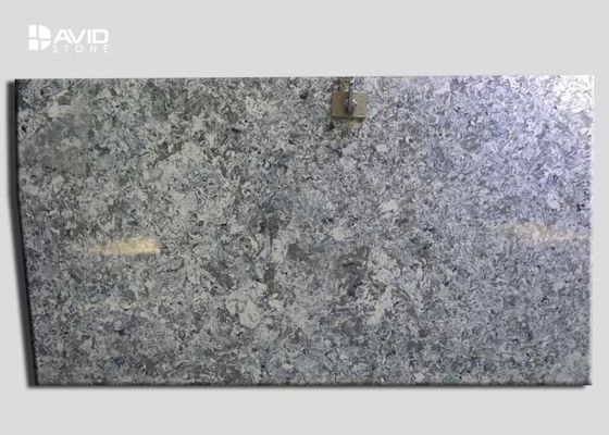 High Polished Quartz Grey White Slab SGS Approved Stain Resistant