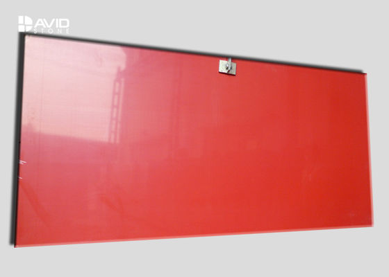 Red Color Natural Quartz Countertop Slabs 3200x1600mm High Strength Indoor Use