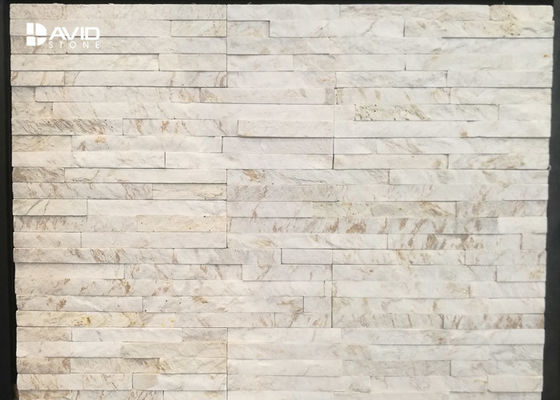 White Marble Cultured Stone Veneer Panels For Interior And Exterior Decor