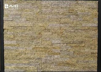 Tiger Skin Yellow Natural Granite Cultured Stone Panels Weathering Resistance