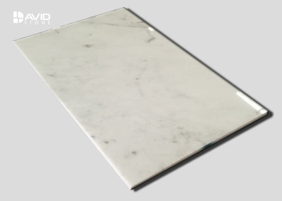 High Gloss Carrara Marble Stone Tile For Decorative Internal Wall Customized