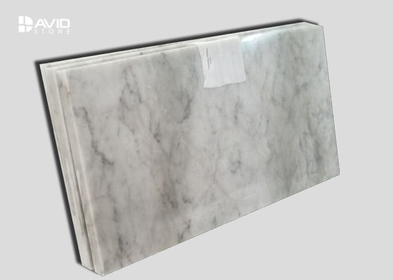 Customized Marble Kitchen Wall Tiles White And Grey Color Wear Resistant