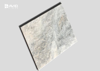 Disorderly Veins Type Marble Stone Tile , Grey And White Marble Wall Tiles