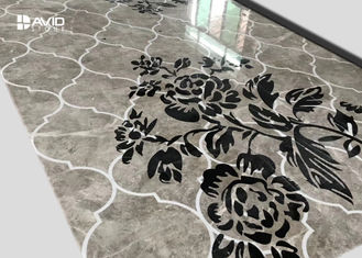 Water Jet Stone Floor Medallions Flower Design For High End Venues Decoration