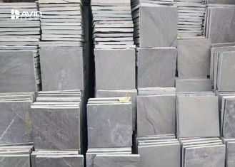 Grey Slate Paving Stones Floor Tiles For Outdoor Corridors / Basement