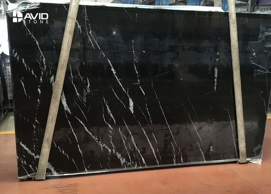 selected popular black marble nero marquina marble slab 20mm thick