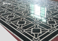 Decorative Geometric Marble Floor Medallions , Marble Floor Tile Patterns