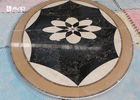 Round Flower Marble Tile Patterns Water Jet Marble Medallion For Flooring