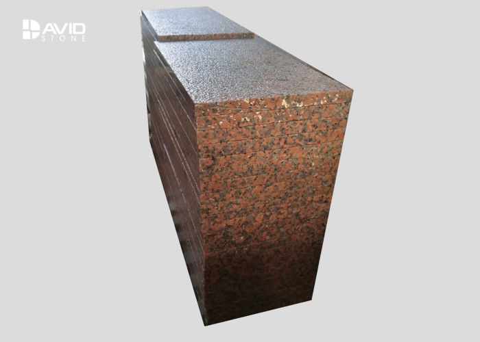 Red Sparkle Granite Stone Tiles For Wall Cladding Floor Abrasion Proof