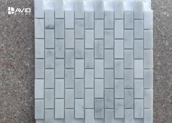 Polished Rectangular Decorative White carrara Mosaic Tiles For Floor/wall