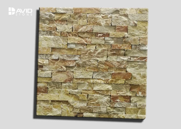 Rusty And Yellow Assorted Limestone Cultured Stone With 3-3.5cm Thickness