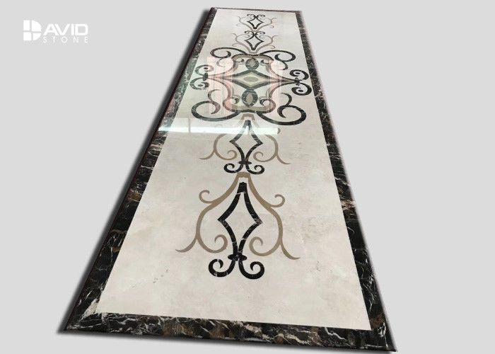 Simple Flower Marble Tile Patterns Marble Floor Medallion Water Jet Designs