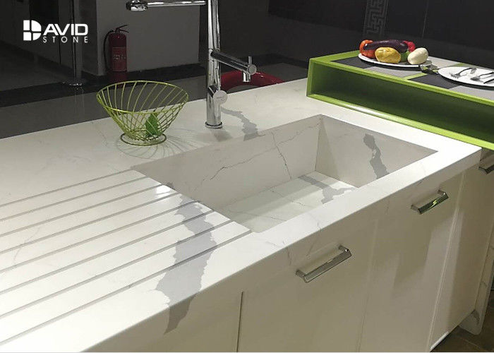 Calacatta Pattern White Quartz Countertops That Look Like Marble For