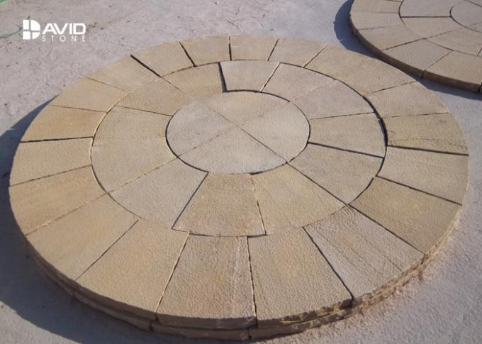 Decorative Yellow Sandstone Wall Cladding Moisture Proof No Radiation