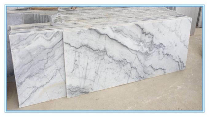 High Purity White Marble Natural Stone Slabs With Veins Polished No Sulfide